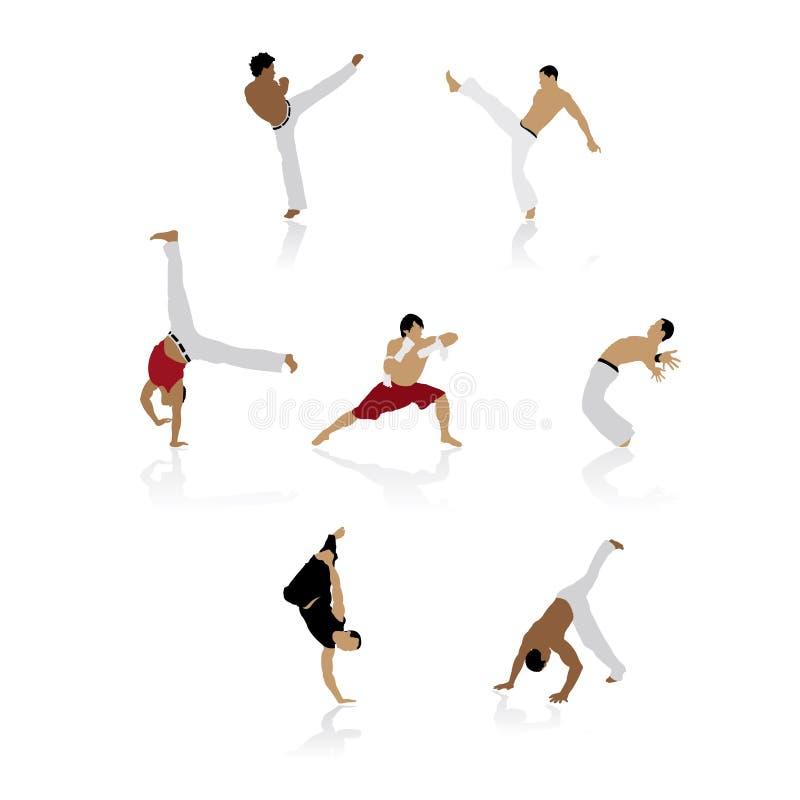 capoeira sylwetki ilustracji