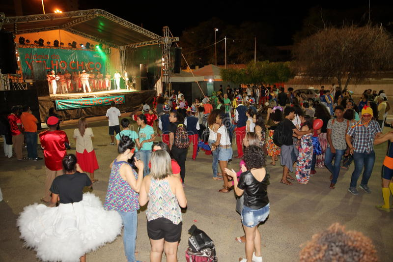 Capoeira-Tanz und Kampfkunstfestival in Petrolina Brasilien stockbild