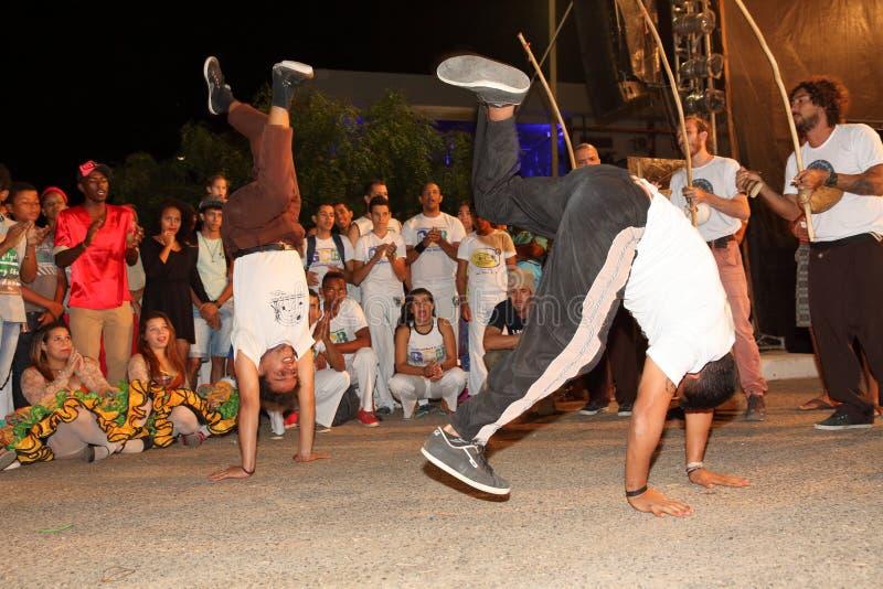Capoeira-Tanz und Kampfkunstfestival in Petrolina Brasilien stockfoto