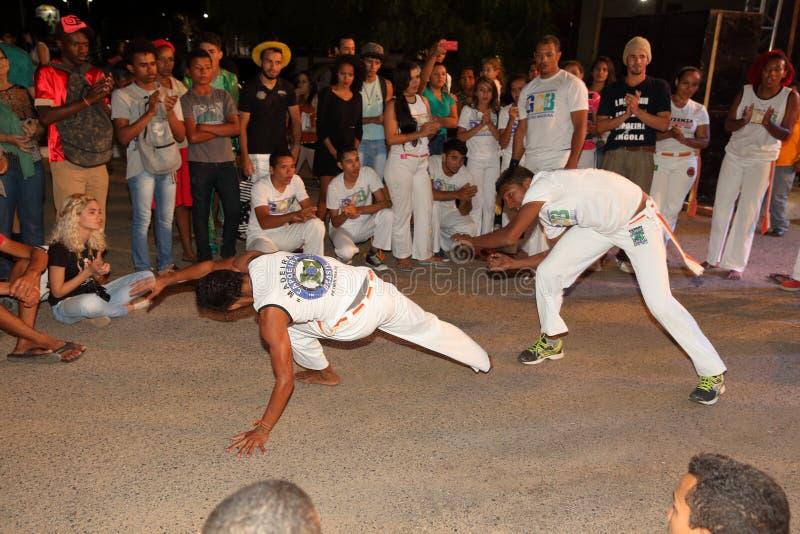 Capoeira-Tanz und Kampfkunstfestival in Petrolina Brasilien lizenzfreie stockfotografie
