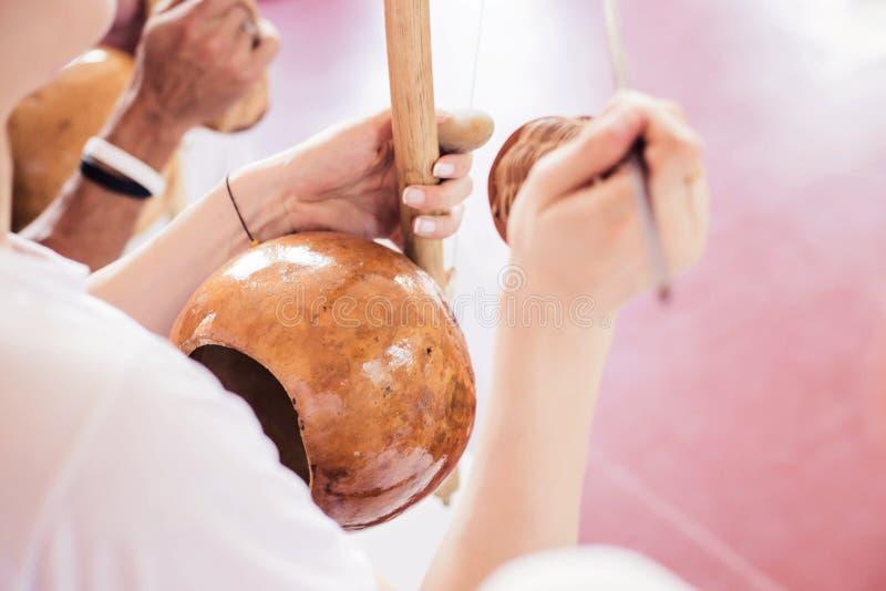 Capoeiramuziek stock afbeeldingen