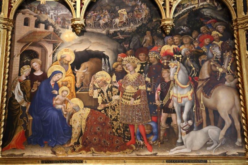 Capolavori nella galleria di Uffizi, Firenze, Italia immagine stock libera da diritti