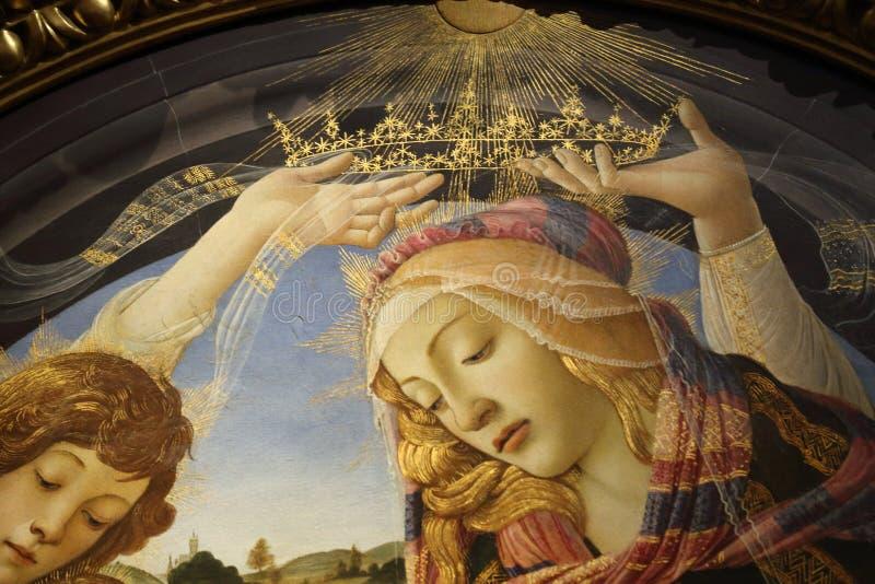 Capolavori nella galleria di Uffizi, Firenze, Italia fotografia stock