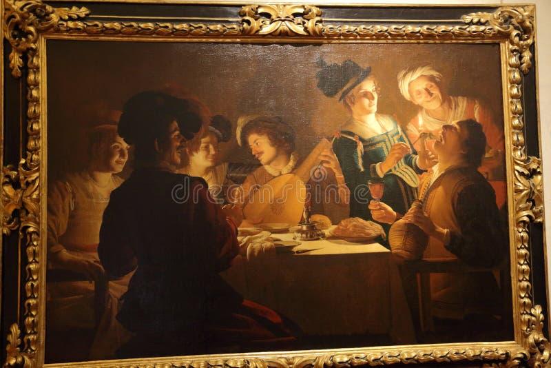 Capolavori nella galleria di Uffizi, Firenze, Italia immagine stock