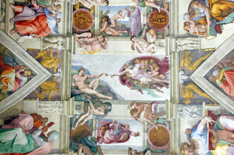 Capolavoro del Michelangelo fotografie stock