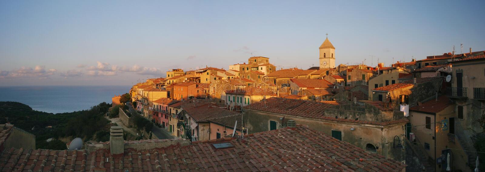 Capoliveri panorama of old city stock image