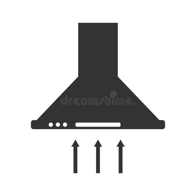 Cappa da cucina, icona del cappuccio della cucina illustrazione di stock