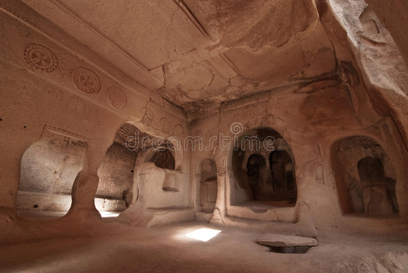 cappadocia教会葡萄zelve 库存图片