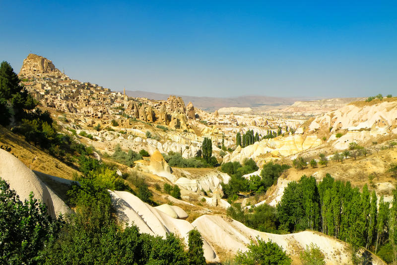 cappadocia横向视图 免版税库存照片