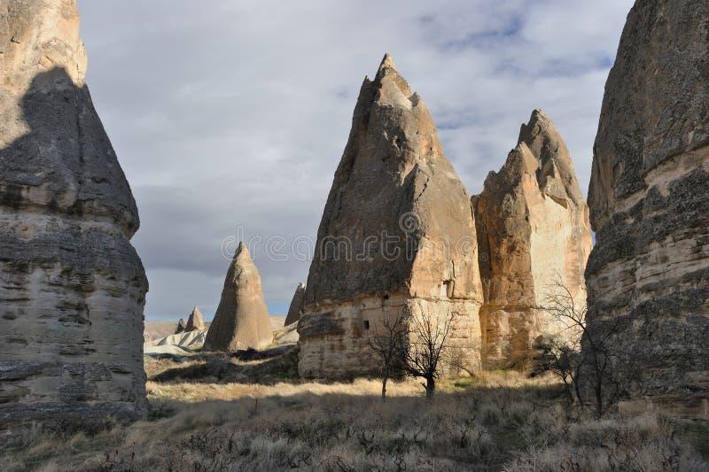 cappadocia烟囱神仙的goreme火鸡 图库摄影