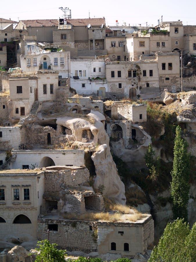 cappadocia老城镇 库存图片
