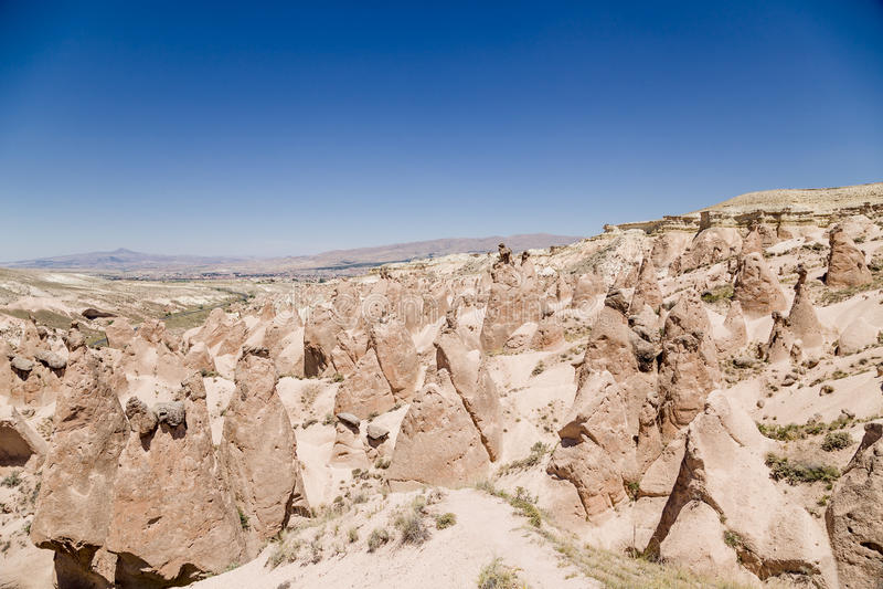 Cappadocia,土耳其 与风化图的Devrent谷  库存图片