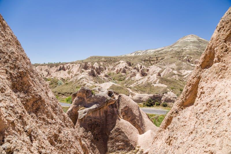 Cappadocia,土耳其 在山Devrent谷的岩石 库存图片