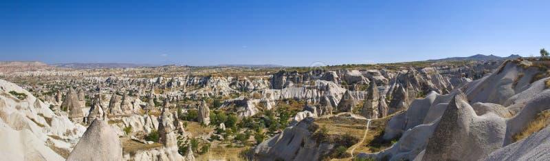 Cappadocia. Valley panorama late september royalty free stock image