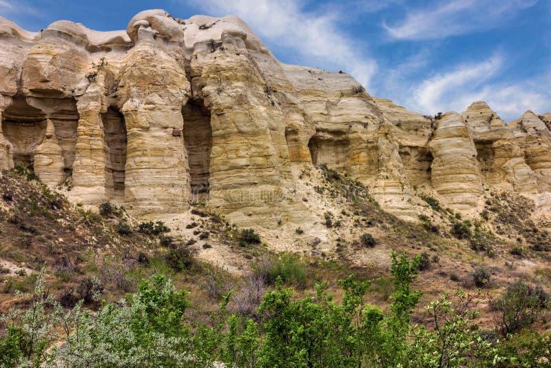 Cappadocia, Anatolië, Turkije Liefdevallei in het nationale pari van Goreme stock foto