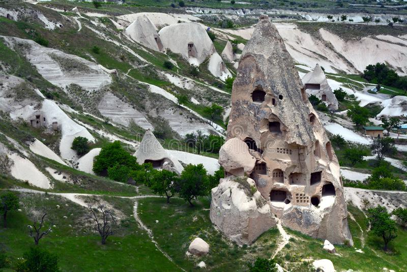 Cappadocia, Anatolien, die T?rkei Freilichtmuseum, Nationalpark Goreme lizenzfreie stockbilder