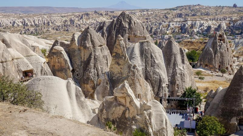 Cappadocia the ancient town stock photography