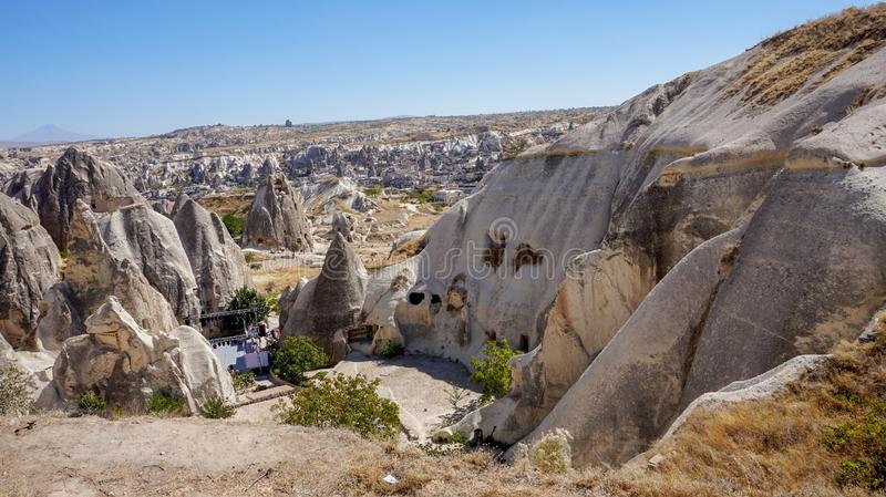 Cappadocia the ancient town stock image