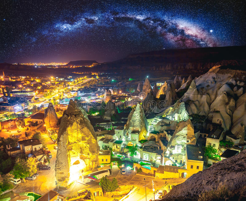Cappadocia Ancient town in Turkey stock photo