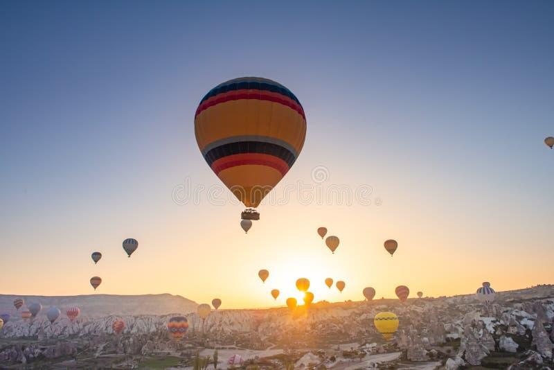 Cappadocia balloon flight stock photo