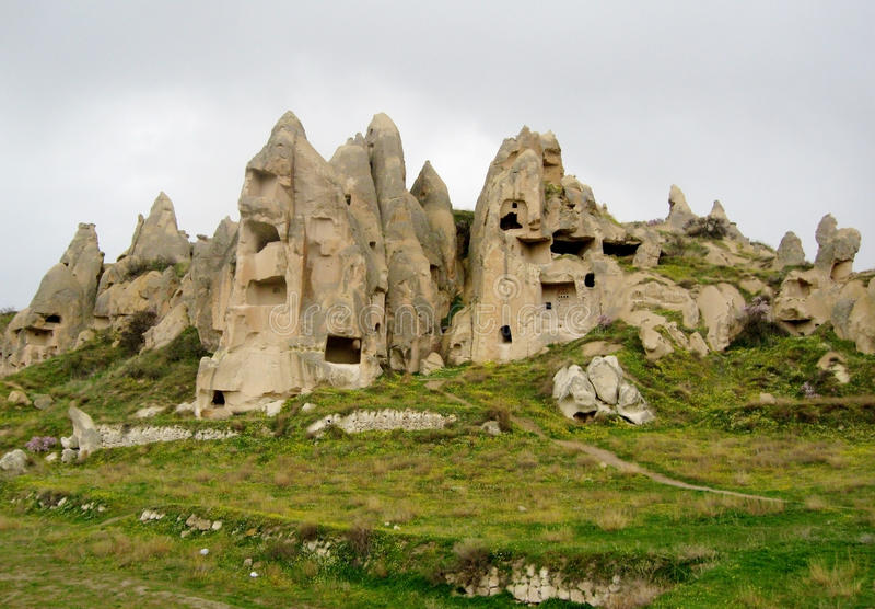 Cappadocia cave city. Cappadocia(Capadocia; Turkish:Kapadokya), easternAnatolia,Turkey. Fairy Chimneysrock formationnearby Goreme and royalty free stock image