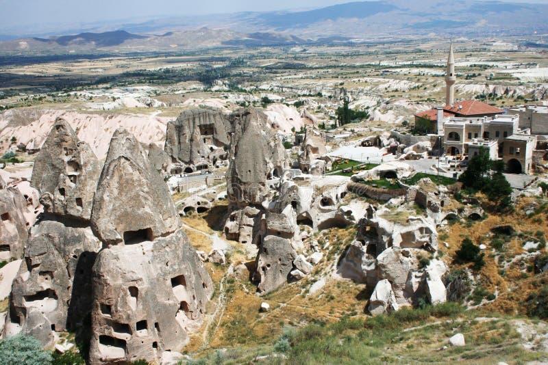 Cappadocia. Details of Cappadocia Ancient Region, Uchisar, Turkey stock photography