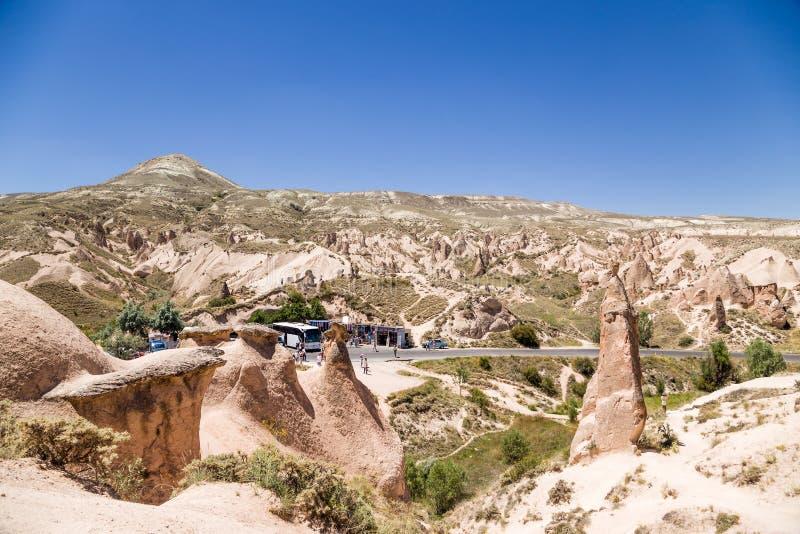 Cappadocia, die Türkei Die seltsame Landschaft des Devrent-Tales stockfotografie