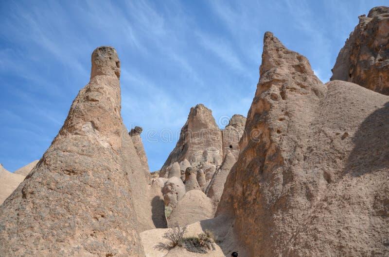 Cappadocia fairy chimneys, Nevsehir in Turkey stock photo