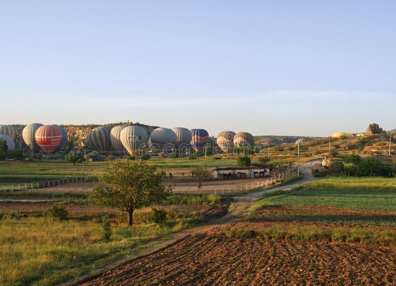 Μπαλόνια στο cappadocia στοκ εικόνα με δικαίωμα ελεύθερης χρήσης