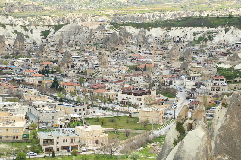 Cappadocia. Is a historical region in Central Anatolia, Turkey.  is famous for its unique relief consisting of a high plateau over 1000 m in altitude that is royalty free stock photography