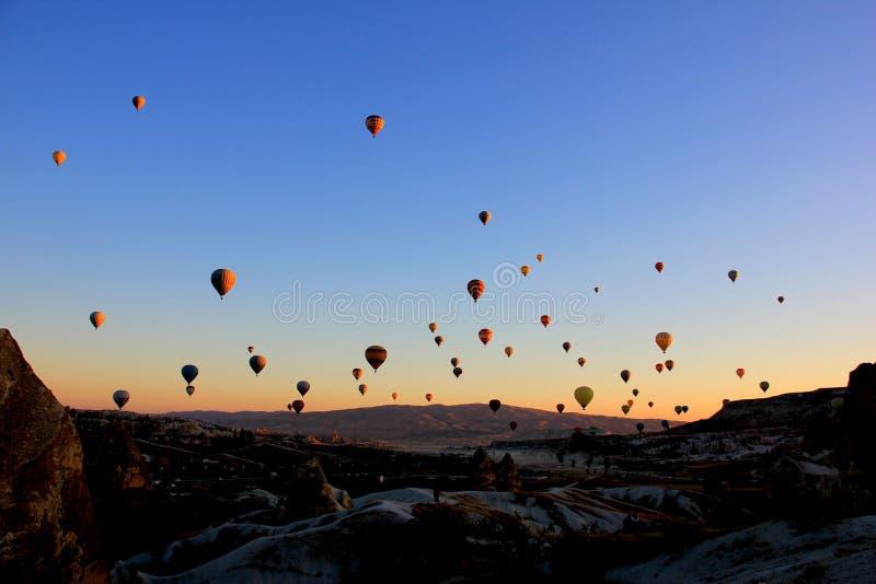 Cappadocia Hot Air Balloons in the morning sky royalty free stock photos