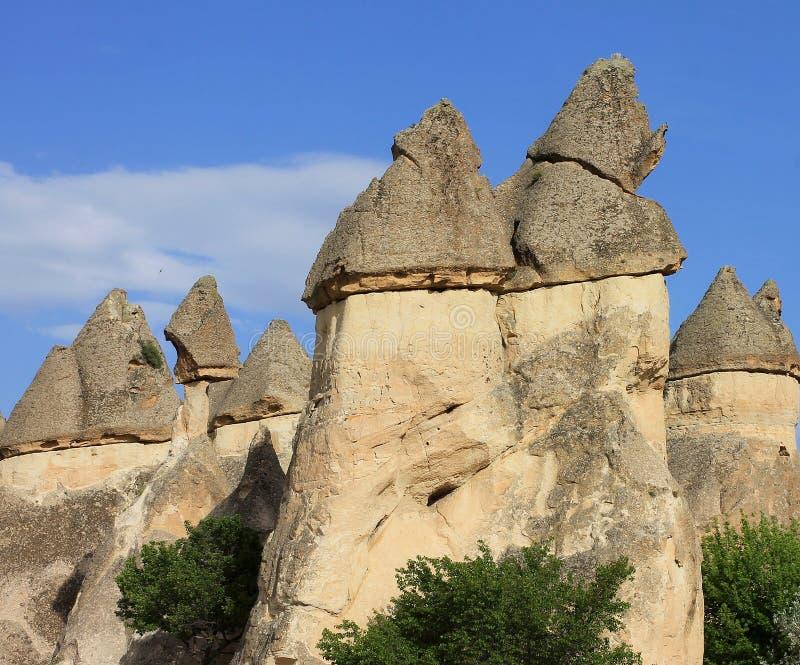 Cappadocia ist eine Region in der Mittel-Türkei Magische Kamine in Pashabag und in Goreme-Tal lizenzfreies stockfoto