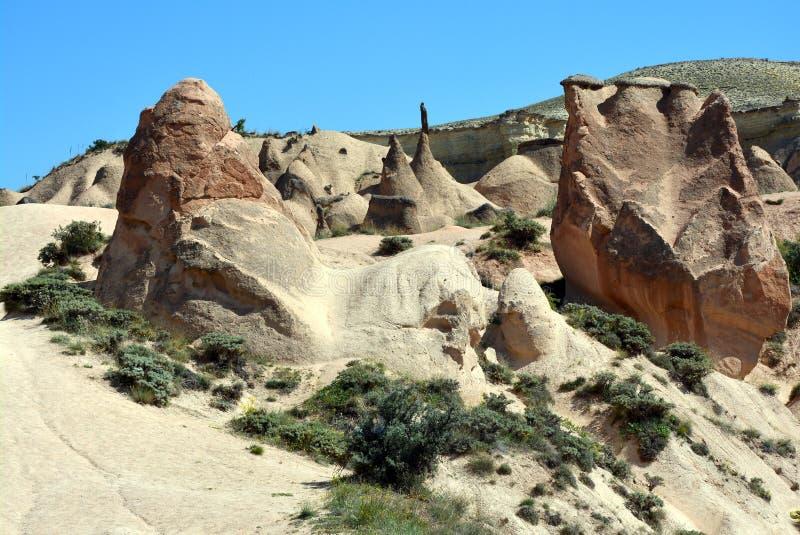 Cappadocia, l'Anatolia, Turchia Museo dell'aria aperta, parco nazionale di Goreme fotografia stock libera da diritti