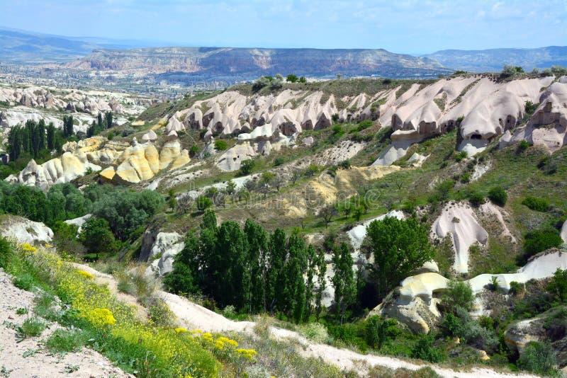Cappadocia, l'Anatolia, Turchia Museo dell'aria aperta, parco nazionale di Goreme immagine stock
