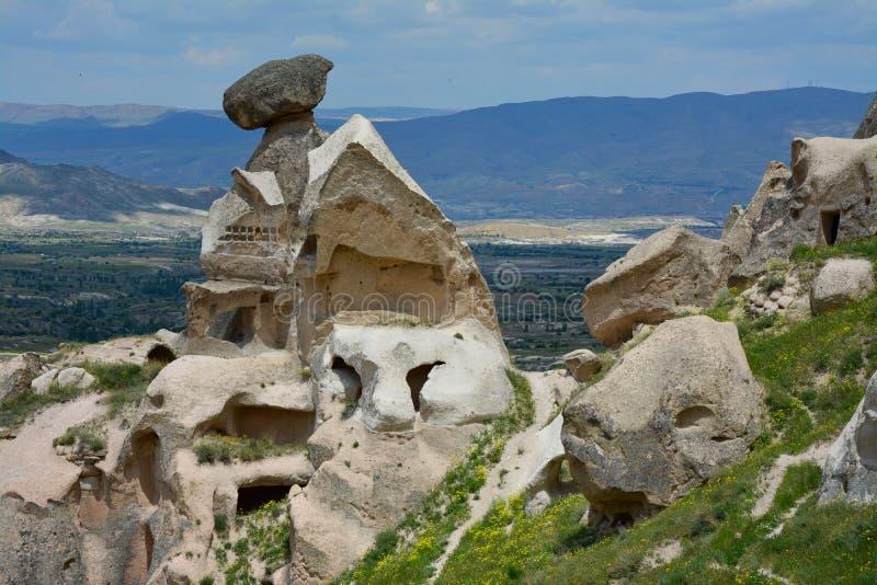 Cappadocia, l'Anatolia, Turchia Museo dell'aria aperta, parco nazionale di Goreme immagini stock