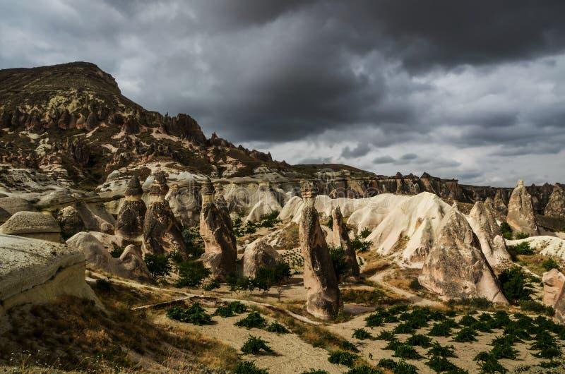 Cappadocia-Landschaft in zentralem Anatolien, die Türkei lizenzfreies stockfoto