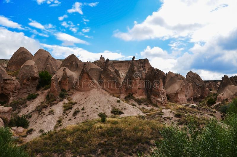 Cappadocia-Landschaft in zentralem Anatolien, die Türkei lizenzfreie stockbilder