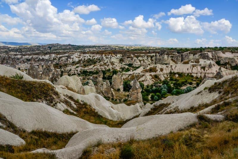 Cappadocia-Landschaft in zentralem Anatolien, die Türkei lizenzfreie stockfotos