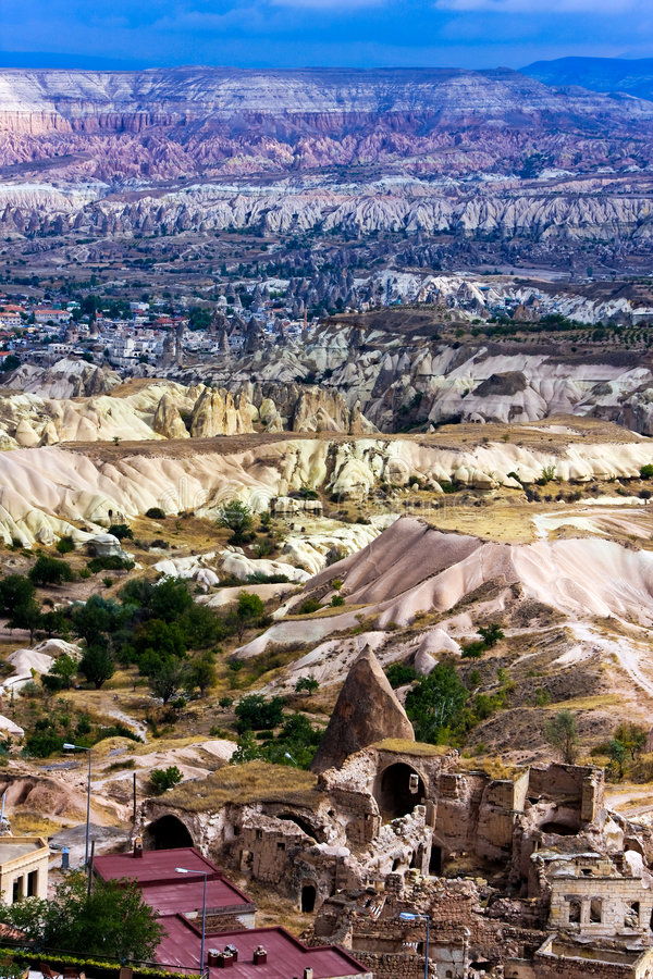 Cappadocia and Red Valley stock photography