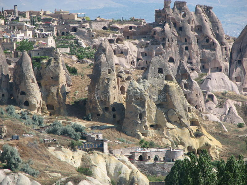 Cappadocia. Is a region in Turkey. In this area are many rock formations which were used as houses in the past (a few still are royalty free stock photo
