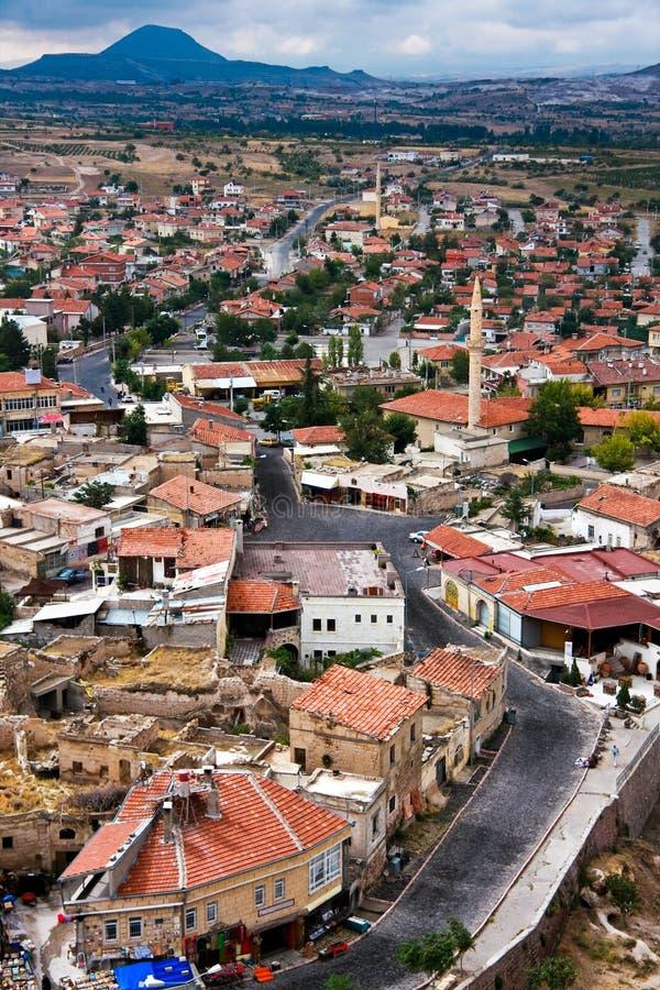 Cappadocia Roof Tops, birds eye royalty free stock photography