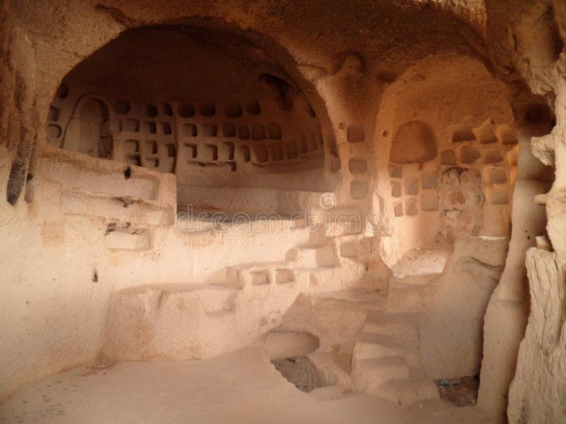 Cappadocia tunnelbanastad arkivfoto