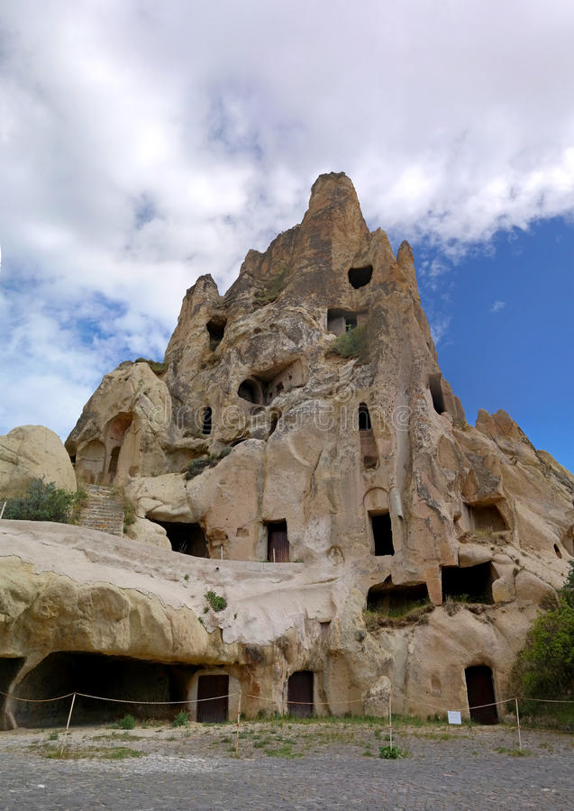 Cappadocia. Turkey. Cave house in the natural erosion formations. royalty free stock photography