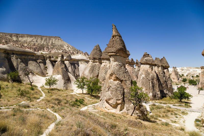 Cappadocia, Turkey. Picturesque Valley of Monks (Pashabag). Valley Pashabag originally got its name from the grapes grown on the slopes of rocks. Valley became royalty free stock photo