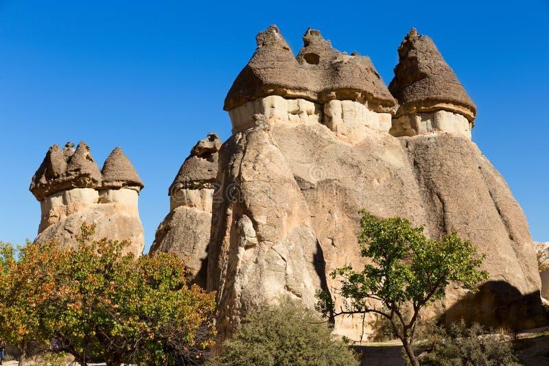 Cappadocia. Turkey, volcanic rock landscape in Zelve Valley stock image