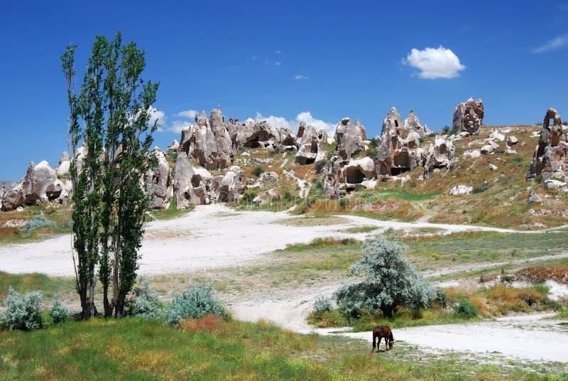 Cappadocia/Turkije stock afbeeldingen