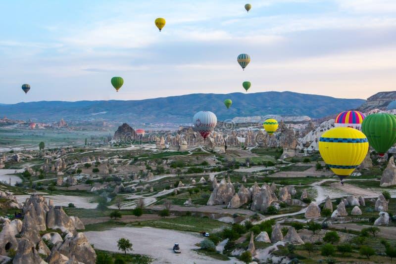 Cappadocia Turkije op Ballon royalty-vrije stock fotografie