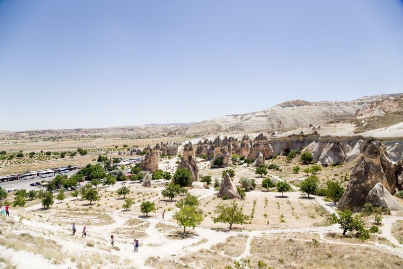 Cappadocia, Turquie Roches pittoresques dans la vallée de Pashabag (vallée des moines) photographie stock libre de droits