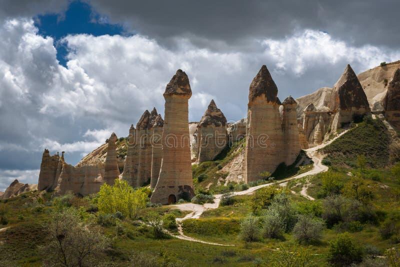 Cappadocia, Turquie Vallée d'amour en parc national de Goreme images stock