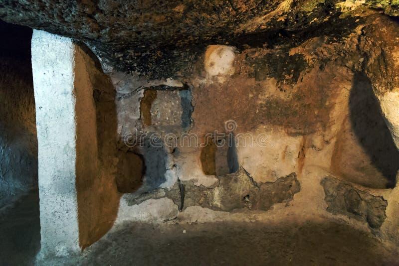 Cappadocia in zentralem Anatolien, die Türkei lizenzfreies stockbild